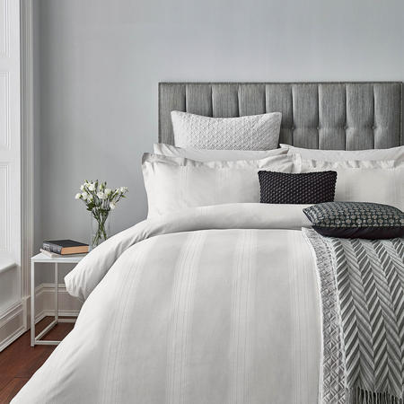 Capella Duvet Cover Platinum Metallic
