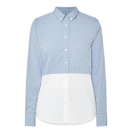 Chambray Colour-Block Shirt Multicolour
