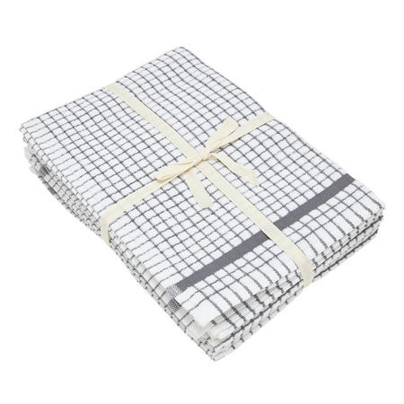 5 Pack Tea Towel Bale Grey