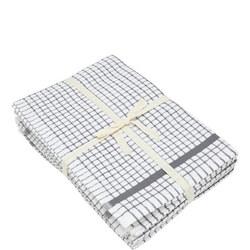5 Pack Tea Towel Bale Grey