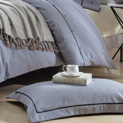 Lifestyle Check Oxford Pillowcase Grey