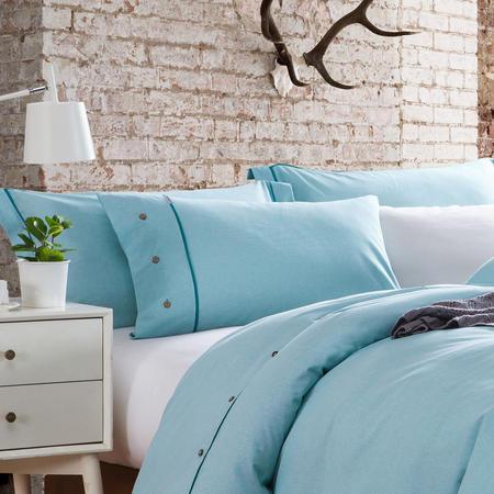 Lifestyle Check Oxford Pillowcase Blue