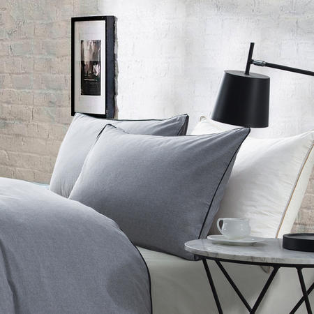 Lifestyle Plain Housewife Pillowcase Pair Grey