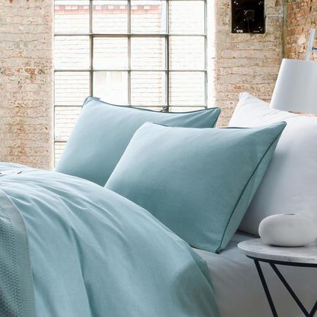 Lifestyle Plain Oxford Pillowcase Blue