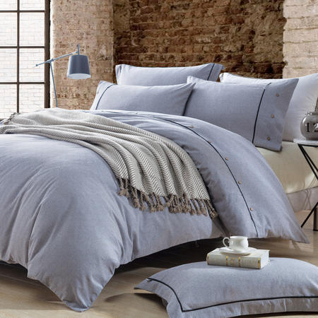 Lifestyle Check Duvet Cover Grey