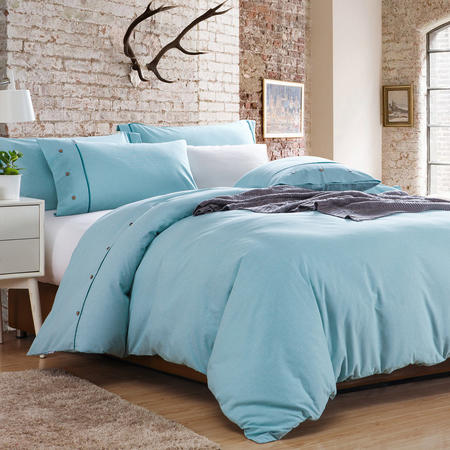 Lifestyle Check Duvet Cover Blue