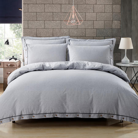 Lifestyle Stripe Duvet Cover Grey