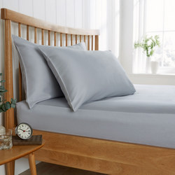 200 Thread Count Sateen Fitted Sheet Grey