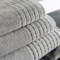 Hotel Combed Towel Grey