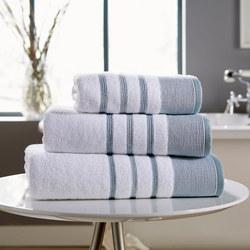 Pintuck Towel Blue