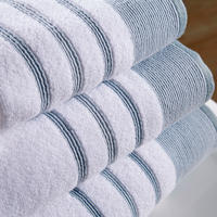 Pintuck Towel Blue