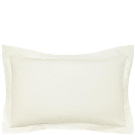 300 Thread Count Cotton Percale Oxford Pillowcase Cream