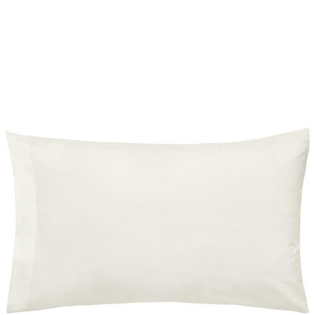 300 Thread Count Cotton Percale Housewife Pillowcase Cream