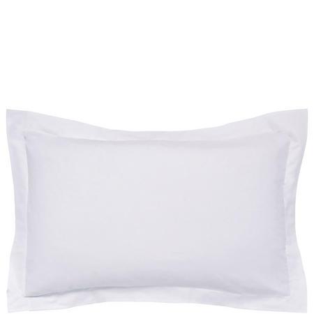 300 Thread Count Cotton Percale Oxford Pillowcase Silver-Tone