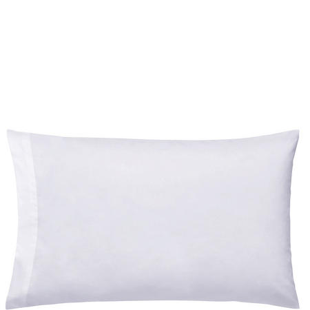 300 Thread Count Cotton Percale Housewife Pillowcase Silver-Tone