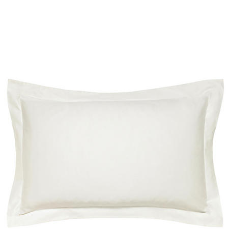 600 Thread Count Cotton Sateen Oxford Pillowcase Cream