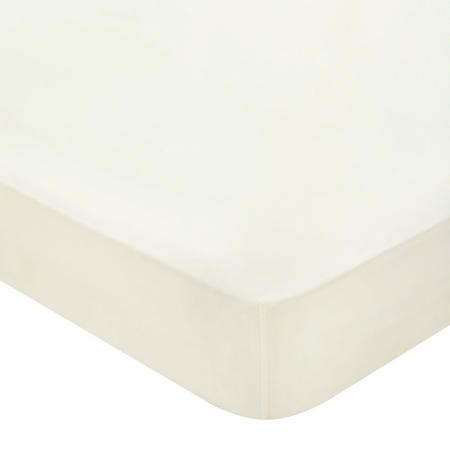 300 Thread Count Cotton Percale Fitted Sheet Cream