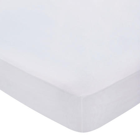 300 Thread Count Cotton Percale Fitted Sheet Silver-Tone
