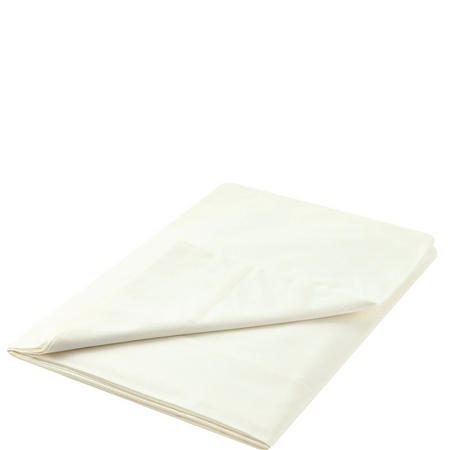 300 Thread Count Cotton Percale Flat Sheet Cream