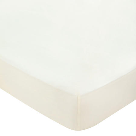 600 Thread Count Cotton Sateen Fitted Sheet Cream