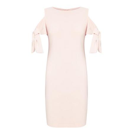 Cold Shoulder Pencil Dress Pink