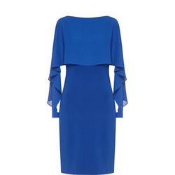 Layered Pencil Dress Blue