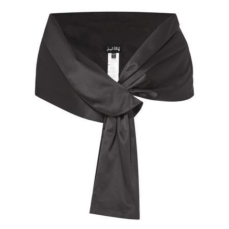 Satin Wrap Black