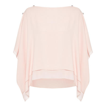 Cape Sleeve Top Pink