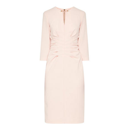 Cropped Sleeve Dress Pink