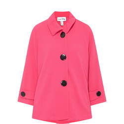 Textured Button-Down Jacket Pink