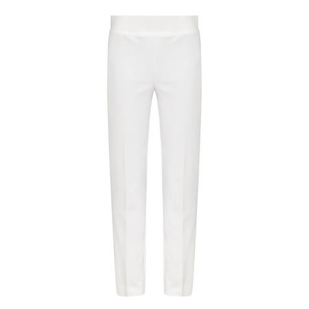 Straight Fit Trousers White
