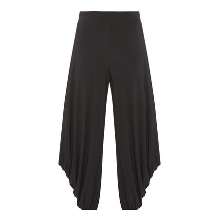 Gathered Detail Trousers Black