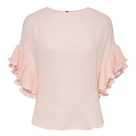 Ruffle Detail Top Pink