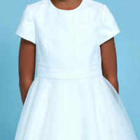 Rose Top Communion Dress Ivory