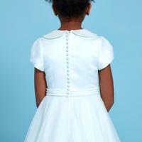 Pearl Collar Communion Dress White