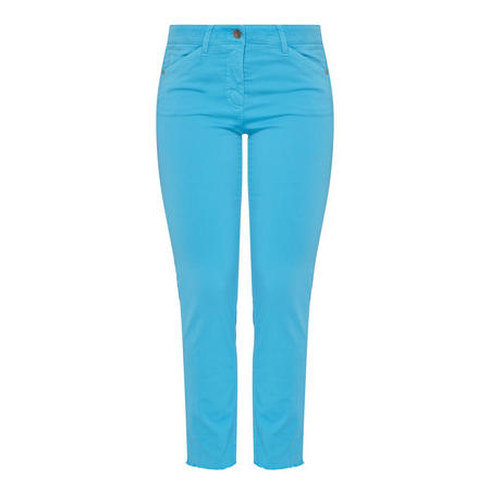 Straight Fit Trousers Blue