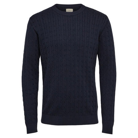 Cable Knit Pullover Navy