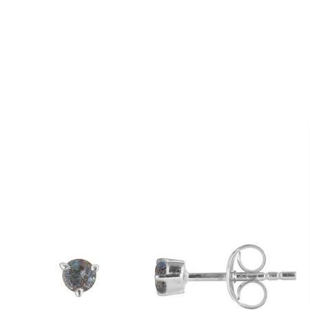 Silver Labradorite Stud Earrings