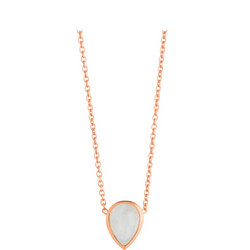 Rose Gold Coral Moonstone Seadrop Pendant