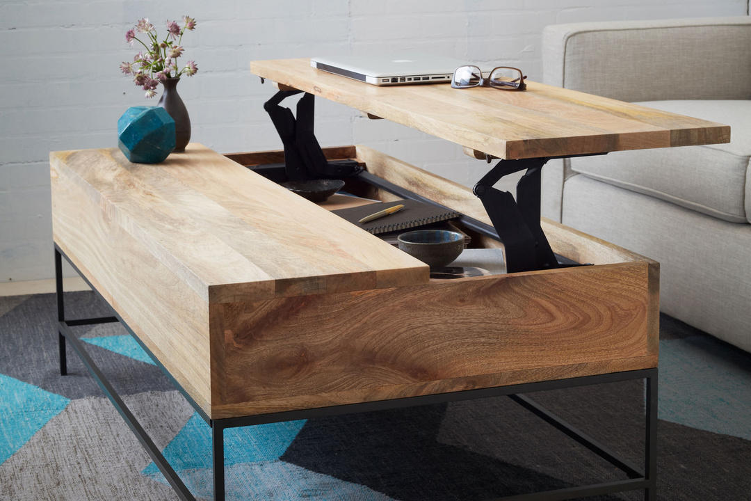 Industrial Storage Coffee Table Raw Mango