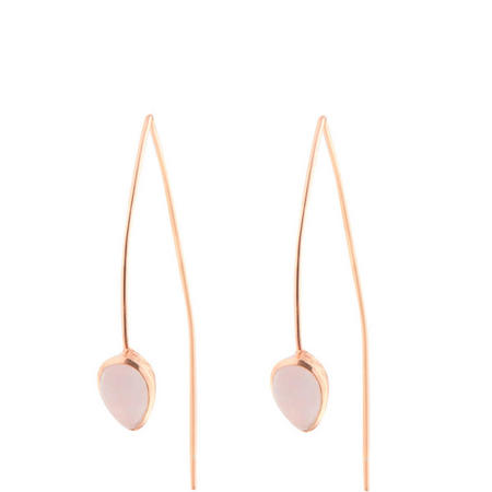 Rose Gold Coral Rose Quartz Seadrop Earrings
