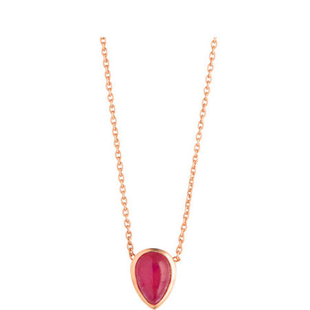 Rose Gold Coral Ruby Seadrop Pendant