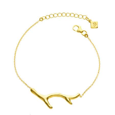 Gold Coral Branch Bracelet