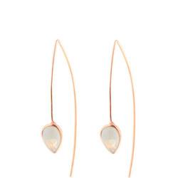 Rose Gold Coral Moonstone Seadrop Earrings