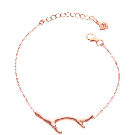 Rose Gold Coral Branch Bracelet