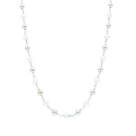 Pearl Necklet 9ct White Gold