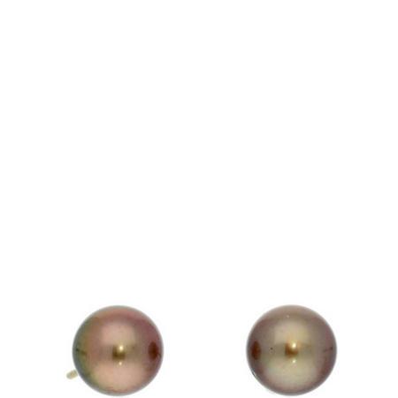 Tahiti Pearl Earrings Brown
