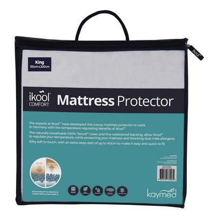 Ikool Comfort 40cm deep Mattress Protector White