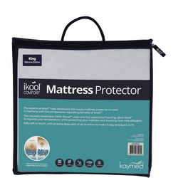 Ikool Comfort 40cm deep Mattress Protector White