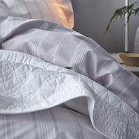 Cotton Soft Cambridge Stripe Duvet Set White